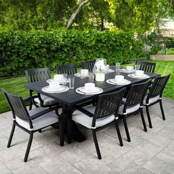 Belvedere Dining Set in Black