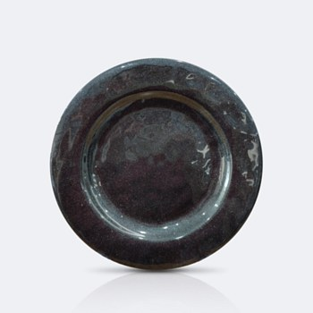 """Ciel 11"""" Dinner Plate - Galaxy Black with shimmer"""