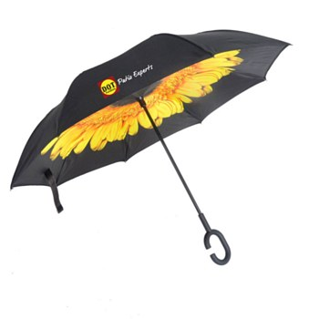 DOT Sunflower Inverted Umbrella