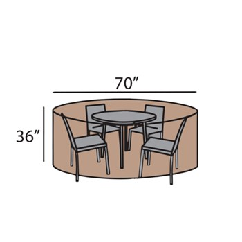 """70"""" Round Dining Set Cover"""