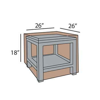Square End Table Cover