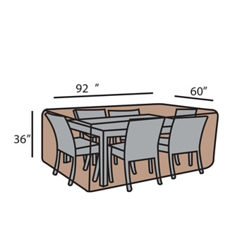 Rect. Dining Set Cover-Small