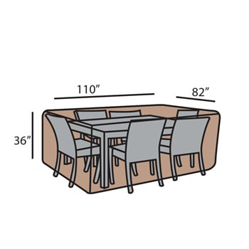 Rect. Dining Set Cover-Med