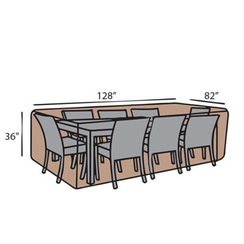 Rect. Dining Set Cover-Large