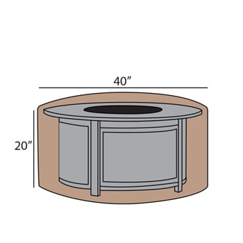 Firepit Cover 40'' Rd