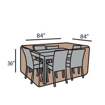 """84""""SQ Dining Set Cover"""