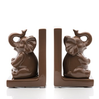 Ceramic Elephant Bookend-Set/2