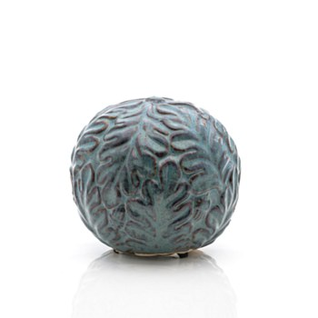 Ceramic Floral Blue Sphere