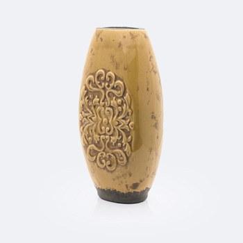 Ceramic Mustard Floral Vase