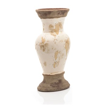 Ceramic Cream and Brown Vase