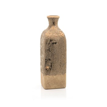 Ceramic Rustic Gold Vase