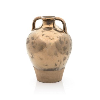 Ceramic Gold Vase with Handles