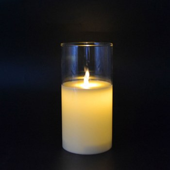 Small LED Candle with Glass