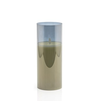 LED Candle w/Tinted Glass-Lg