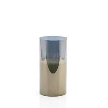 LED Candle w/Tinted Glass-Med