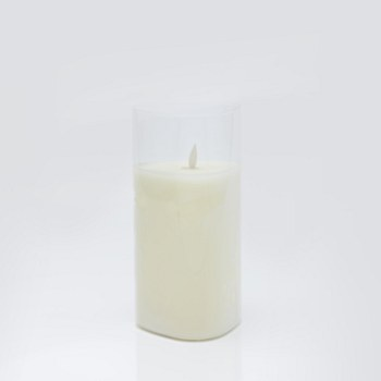 Triangle Glass LED Candle - Large