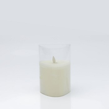 Traingle Glass LED Candle - Small