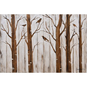 Oil Painting - Stencil Trees