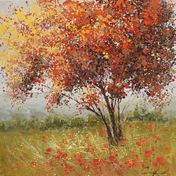 Oil Painting - Autum Tree