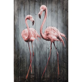 Oil Painting - Flamingos