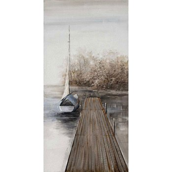 Oil Painting - Dock