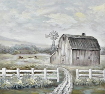 Oil Painting - Country Morning