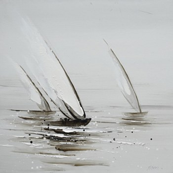 Oil Painting - Sailboats