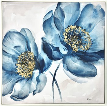 Oil Painting - Blue Blooms