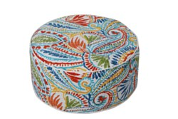 Tropical Summer Patio Pouf