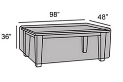 """Protective Cover - 48""""x98"""" Table Cover"""