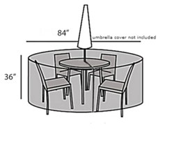 Protective Cover - Small Round Table & Chairs Set