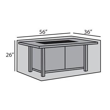 Rectangular Firepit Table Cover