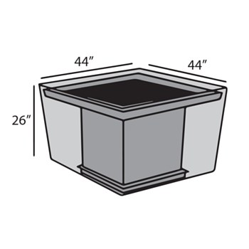 Square Firepit Table Cover
