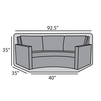 Curved Sofa Cover