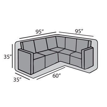 """Square """"L"""" Shape Sectional Cover"""