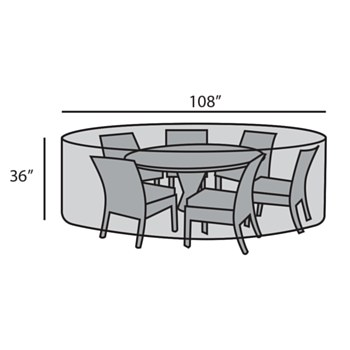 Round Dining Set Cover
