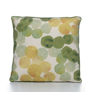 Throw Pillow Green Watercolour