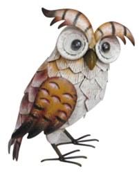 Metal Painted Owl