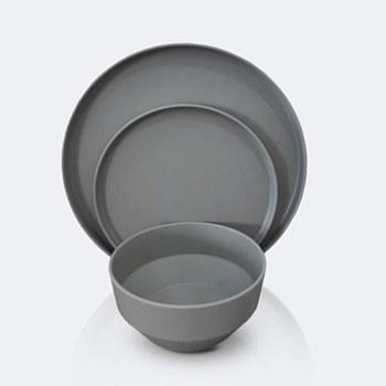 Soleil 12 pcs Dinnerware Set - Stone Grey