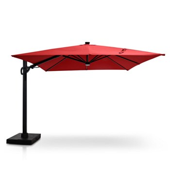 Stellar 10' Square Tilt Top Parasol with Solar Lights