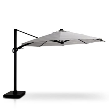 Stellar 12' Round Tilt Top Parasol with Solar Lights