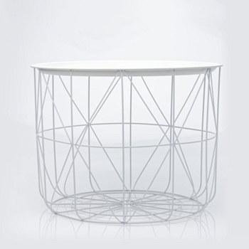 Large Storage Table - White