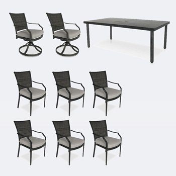 Sunnyvale Dining Set - 8 Chairs