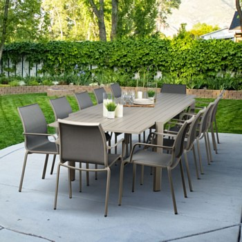 Holiday Taupe Ext Dining Set