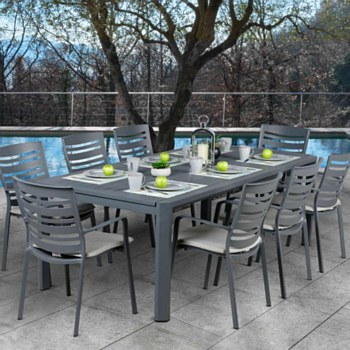 Linear Extendable Dining Set
