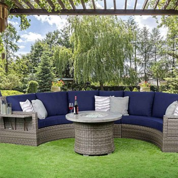 Rideau Curved Sectional Set