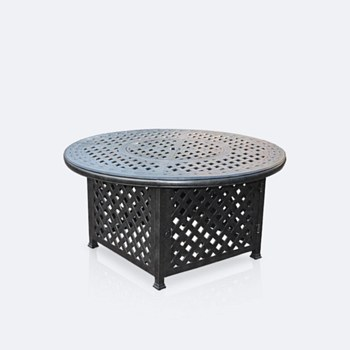 """Weave 48"""" Round Firepit Table"""