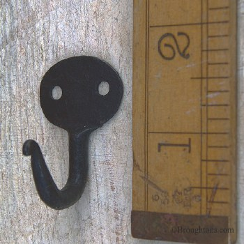 Cup Hook or Tie Back Hook Forged Iron