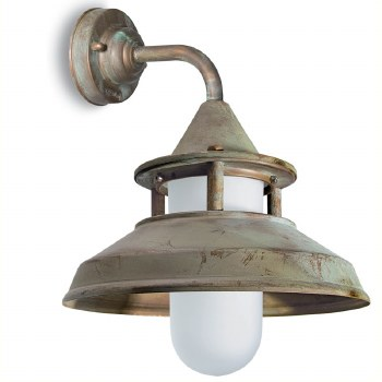 Modena Wall Bracket Light Aged Copper Opal Glass
