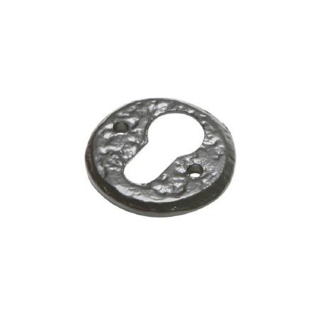 Kirkpatrick 1401 Round Euro Profile Escutcheon Antique Black